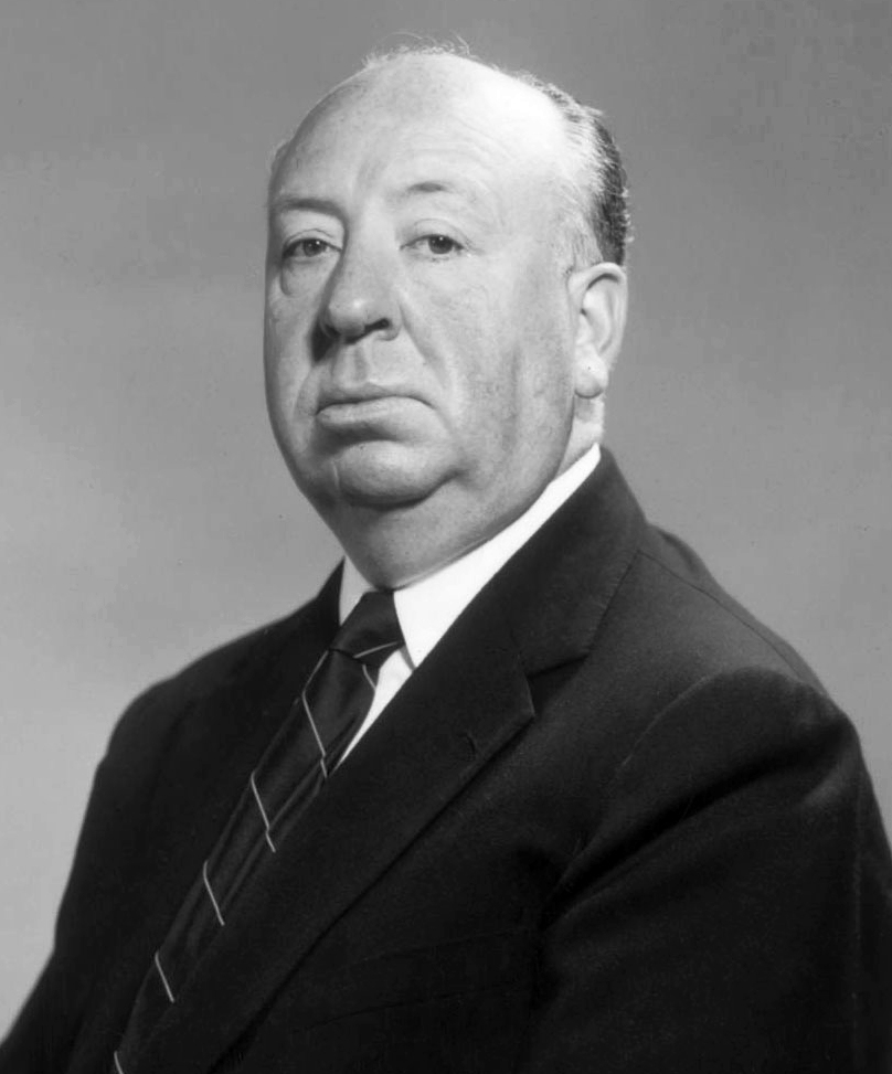 English film director, producer and screenwriter Alfred Hitchcock.
