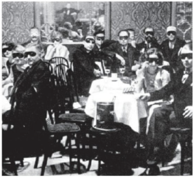 Masquerade ball in cabaret and supper club 'Weisse Maus' in 1920s Berlin.